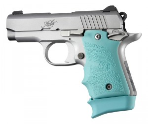 Kimber Micro 9 Ambi Safety Rubber Grip with Finger Grooves Aqua