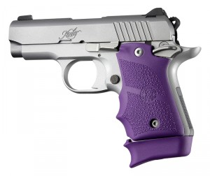 Kimber Micro 9 (Ambi Safety): Purple Rubber Grip with Finger Grooves
