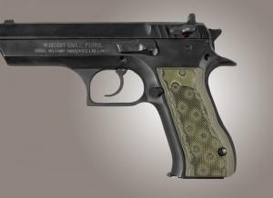 Baby Eagle .40 / 9mm Jericho & Uzi Eagle Checkered G10 - G-Mascus Green