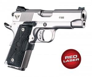 Red Laser Enhanced Grip for 1911 Officers Model: Piranha G10 - G-Mascus Black