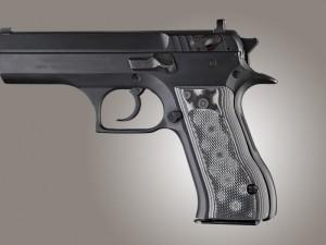 Baby Eagle .40 / 9mm Jericho & Uzi Eagle Checkered G10 - G-Mascus Black/Gray