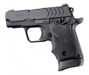Springfield Armory 911 .380: Cobblestone Rubber Grip with Finger Grooves (Ambi Safety) - Black