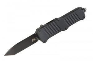 "HK Mini Incursion Out the Front Automatic: 2.95"" Tanto Blade - Black PVD Finish, Matte Black Aluminum Frame"