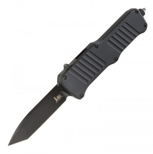 "HK Mini Incursion Out The Front Automatic: 2.95"" Tanto Blade - Black PVD Finish, Matte Black Aluminum Frame"