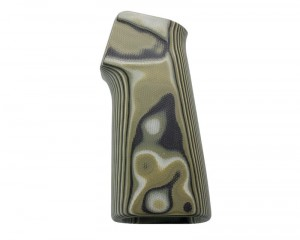 AR15 / M16 15 Degree Vertical No Finger Groove Smooth G10 - G-Mascus Green
