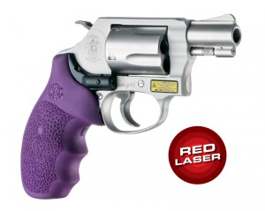 Red Laser Enhanced Grip for S&W J-Frame Round Butt: Cobblestone Rubber Monogrip - Purple