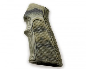 AR15 / M16 Checkered G10 - G-Mascus Green