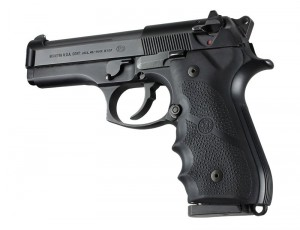 Beretta 92/96 Series Rubber Grip with Finger Grooves Black