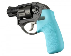 Ruger LCR/LCRx: Aqua Rubber Tamer Cushion Grip without Finger Grooves