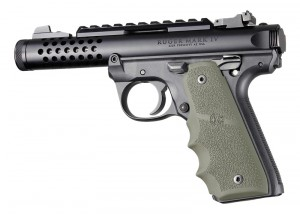 Ruger 22/45 MKIV: OD Green Rubber Grip with Finger Grooves
