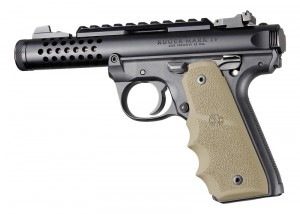 Ruger 22/45 MKIV: FDE Rubber Grip with Finger Grooves