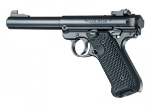 Ruger MK IV: Solid Black Piranha G10 Grip