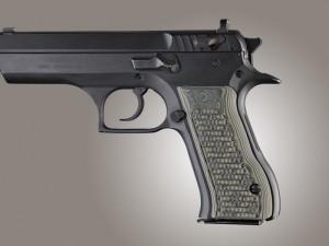 Baby Eagle .40 / 9mm Jericho & Uzi Eagle Piranha Grip G10 - G-Mascus Green