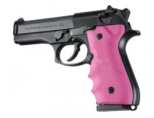 Beretta 92/96 Series Rubber Grip with Finger Grooves Pink