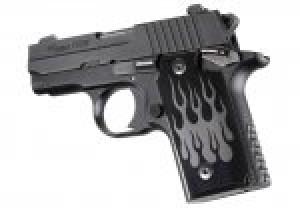 SIG Sauer P238 Flames Aluminum - Black Anodize