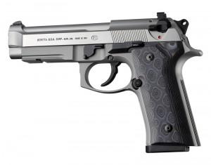 Beretta 92 M9A3/Vertec: Smooth G10 Grip Panels - G-Mascus Black/Grey