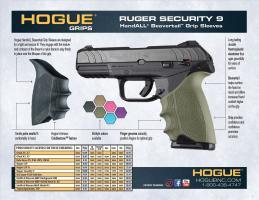 Ruger Security-9 Beavertail Grip Sleeves