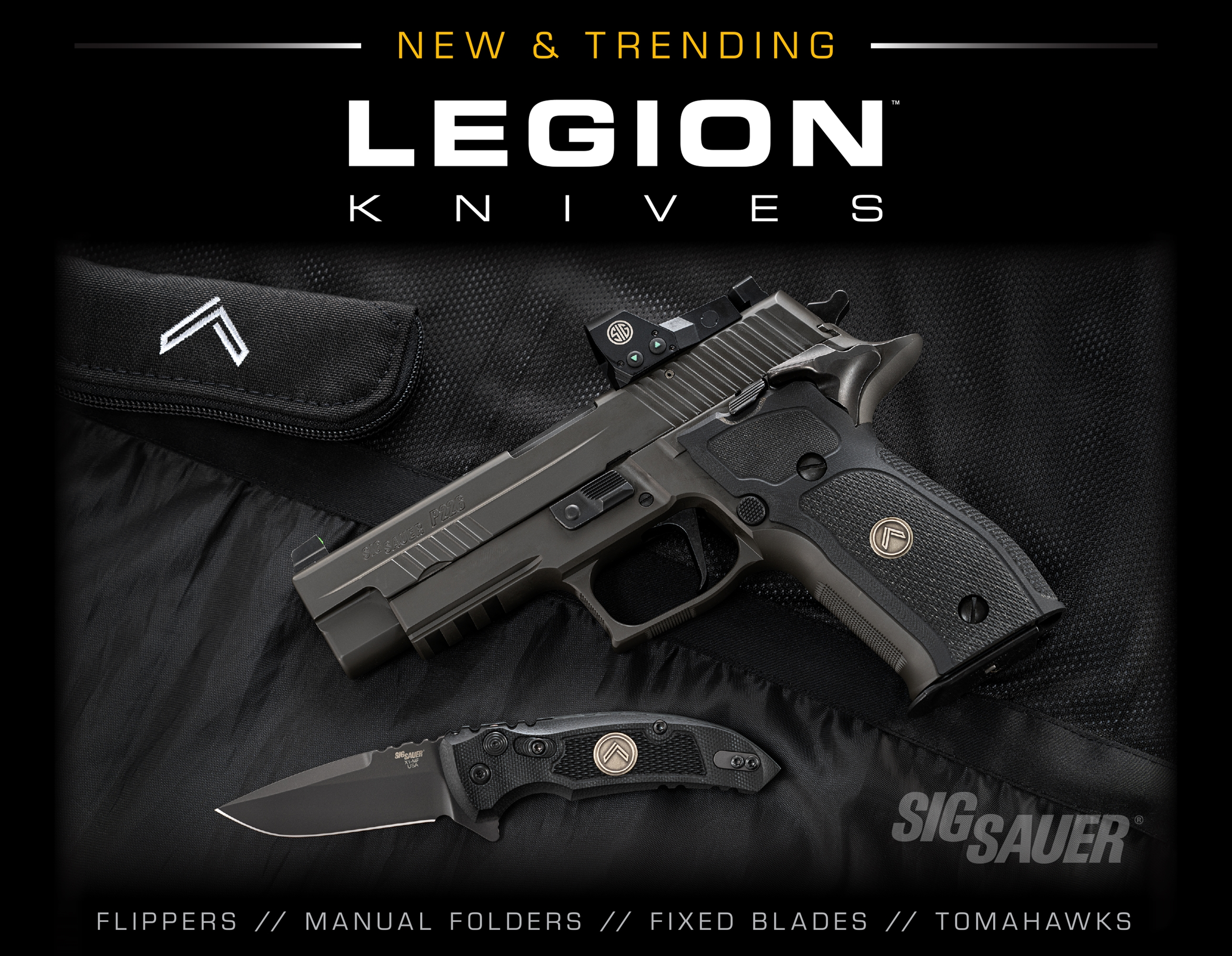 SIG SAUER LEGION Knives Display Image