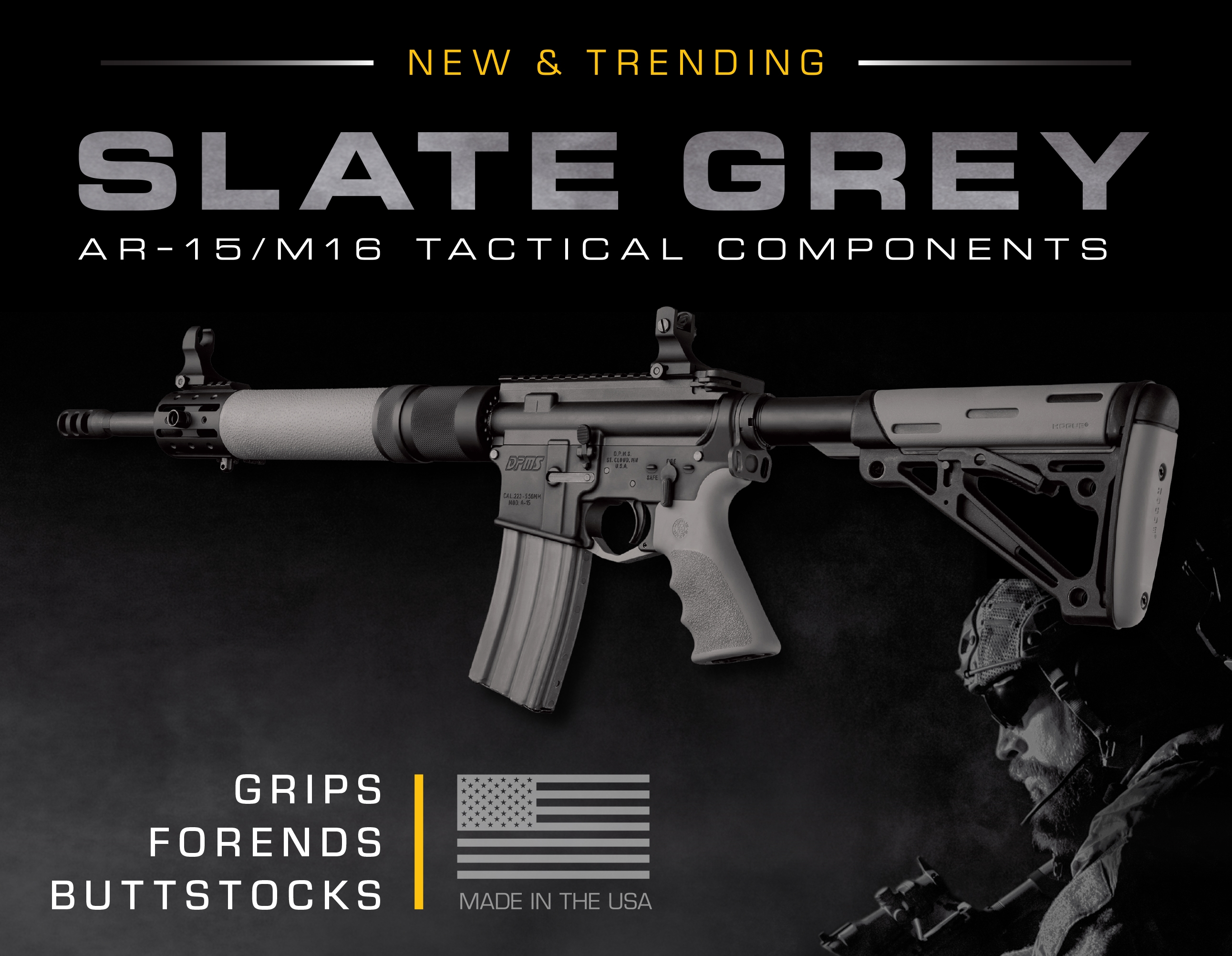 Slate Grey Tactical Components Display Image