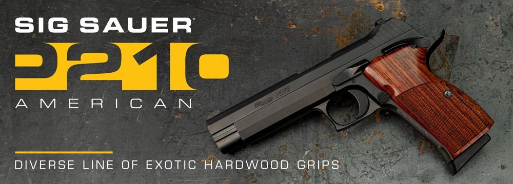 SIG P210 American Hardwood Grips